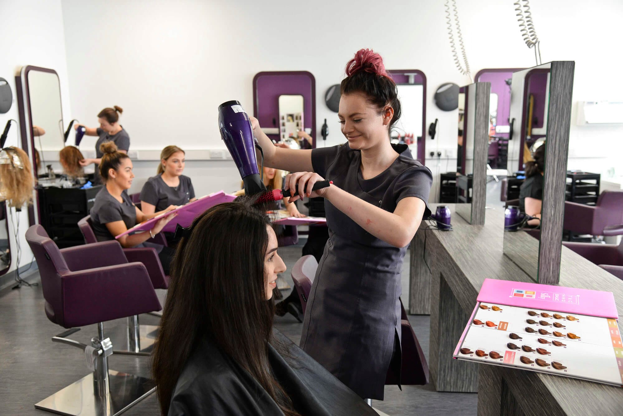 hairdressing beauty level salon hair distinction college professional nelson student levels range facilities course grade